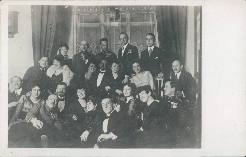 Richard and Marie (back row left) at a party during World War One.