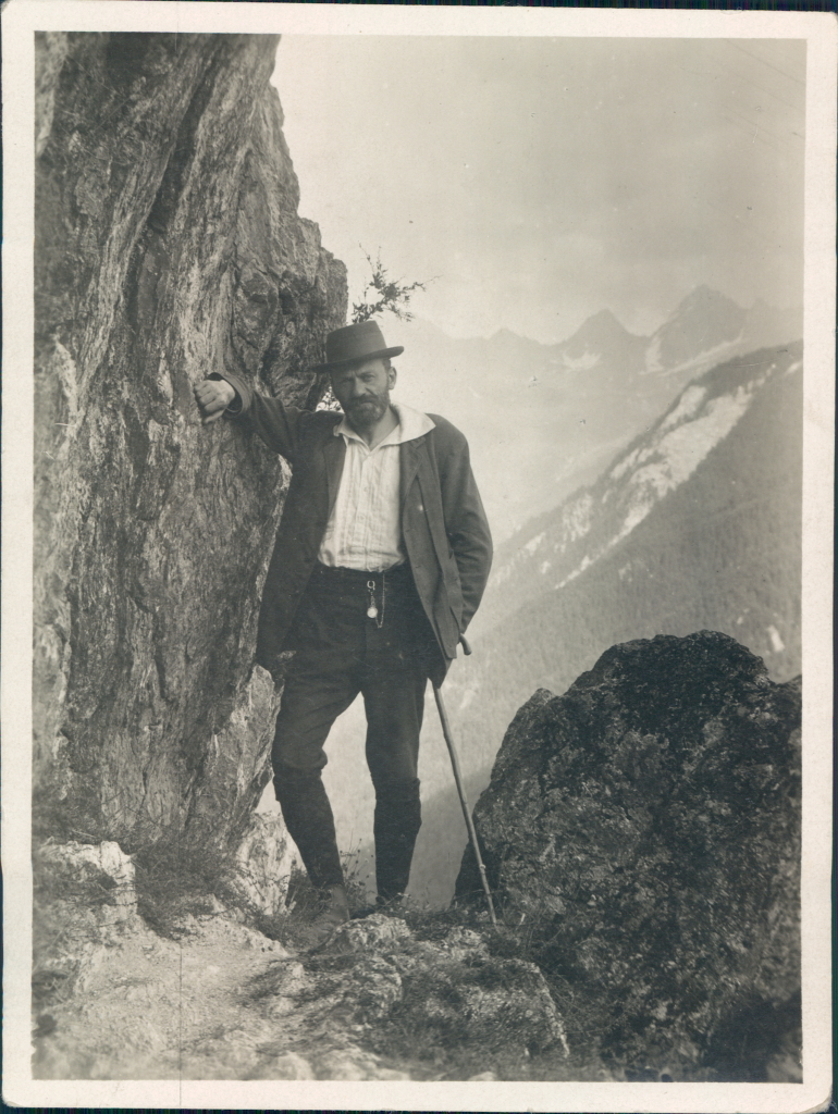 Richard Stöhr hiking in Hoher Dachstein, Styria Province ca. 1920