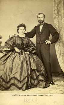 Samuel and Mathilde Stern (Richard's parents), ca. 1863